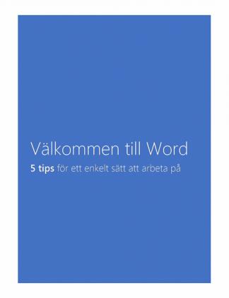 Officemallar Word dokument